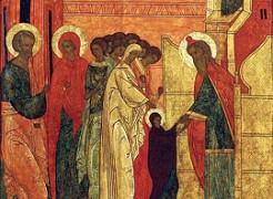 Введение во храм. Фрагмент иконы XVI в