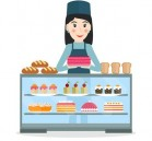 64038017-grocery-store-or-bakery-shop-female-salesperson-near-vitrine-with-cakes-and-pastry-in-flat-style-smi